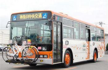 自転車を前方に搭載