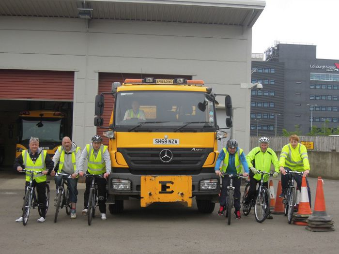 Lorry drivers cycling lessons