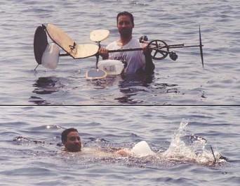 水中?自転車