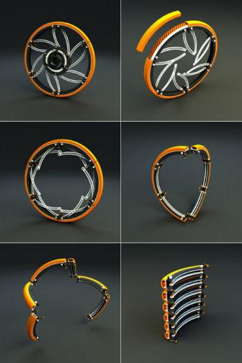 Wheel folding system