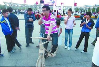 アイスの棒自転車