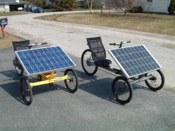 太陽電池三輪車