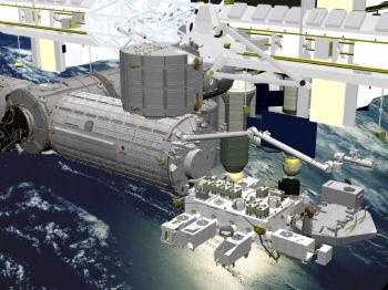 日本実験棟「きぼう」想像図:JAXA