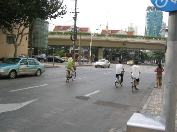 自転車レーンでなくても大胆に走行
