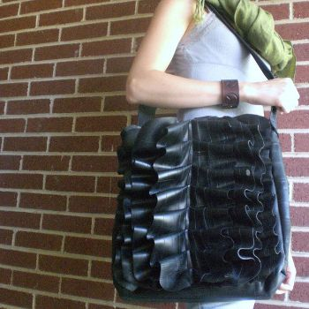 Bike Tube Holly Book Bag, www.etsy.com