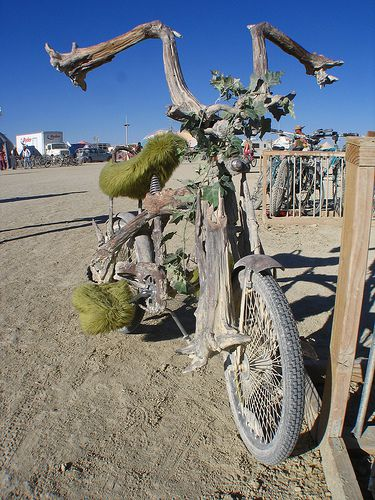 Tree bike, Photo by InfiniteWorld,licensed under the Creative Commons Attribution ShareAlike 3.0 Unported.