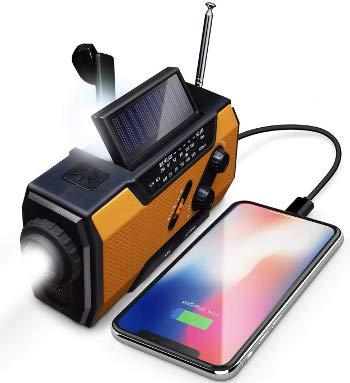 ラジオライト スマホ充電対応