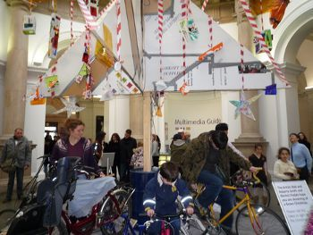 Christmas Tree Uses Pedal Power, www.treehugger.com