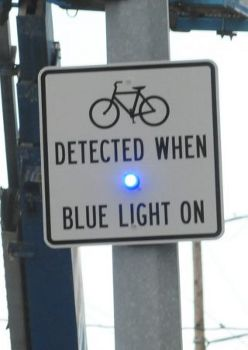 added a blue light