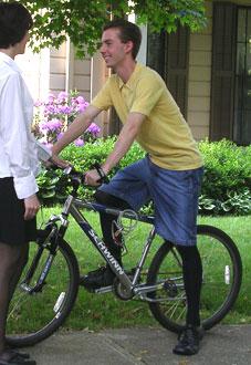 自転車でもパンスト
