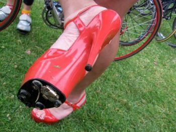 High heel bicycle shoes