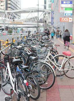 大量の放置自転車