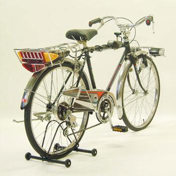 電子フラッシャー付自転車