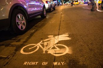 Unauthorized Bike Lanes, cityroom.blogs.nytimes.com