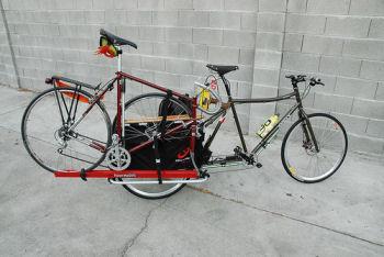 自転車に自転車を載せる
