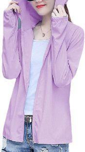 chenshiba-JP Women Summer Sunscreen Hooded Long Sleeve Mask Jacket Coats 3 S