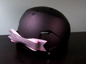 Pink Reflective Bike Helmet Bow, www.etsy.com