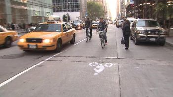 Fake NYC bike lanes, pix11.com