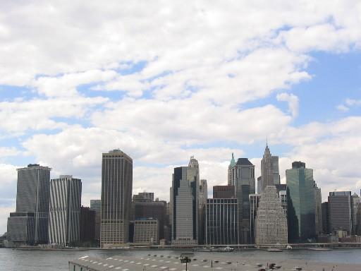 対岸から見たマンハッタン