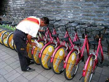 レンタル自転車を5万台用意