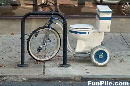 自転車トイレ