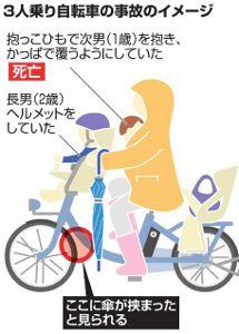 抱っこで自転車