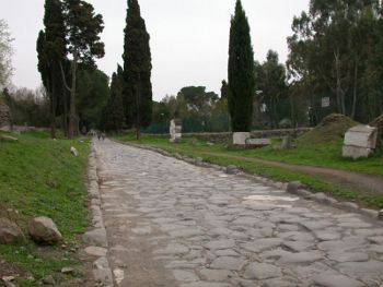 Via Appia Antica in Rome, Photo by MM,licensed under the Creative Commons Attribution ShareAlike 3.0 Unported.