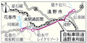 自転車県道遠野東和線