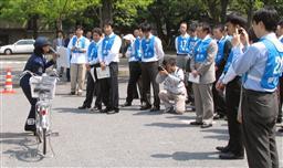 中央省庁の職員対象、霞が関自転車教室