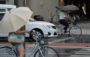 自転車傘差し禁止
