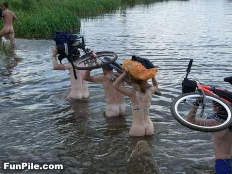 自転車は濡らさない