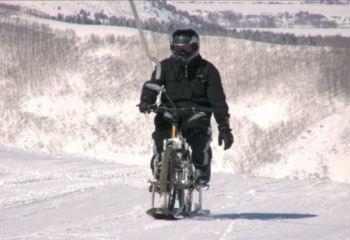 雪上マウンテンバイク