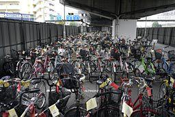 撤去された自転車
