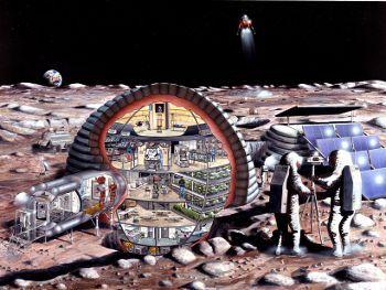 NASA作成、未来の月面のイメージ図