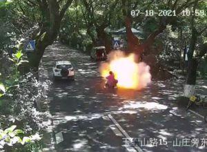 電動自転車が発火