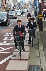 自転車走行指導帯