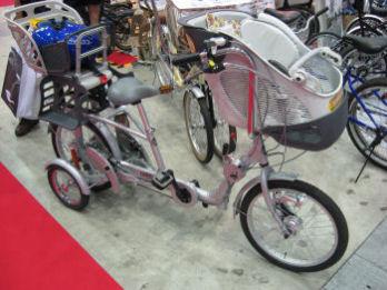 子供乗せ3人乗り自転車