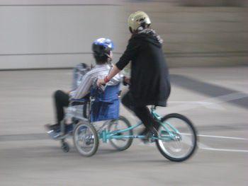 車椅子+自転車