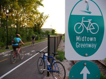 The Midtown Greenway in Minneapolis, Photo by Micah Taylor,licensed under the Creative Commons Attribution ShareAlike 3.0 Unported.