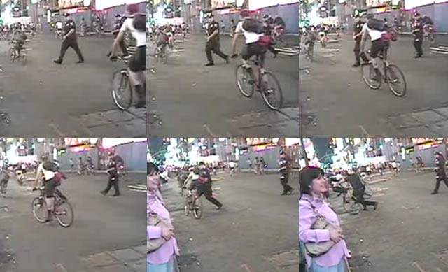 NYPD Investigates Cop Videotaped Throwing Cyclist Off Bike, gothamist.com