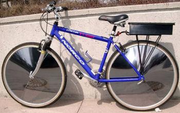 タイヤ面が太陽電池・E-V Sunny Bicycle