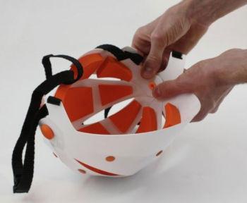 Flat-pack bike helmet
