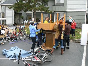 自転車で引っ越し