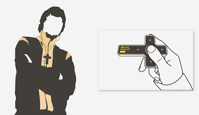 :十字架型携帯音楽プレーヤー