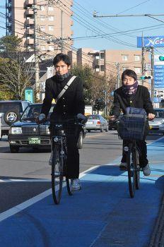 自転車レーンが効果