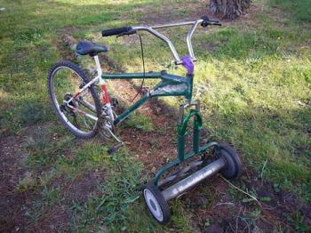 芝刈り自転車