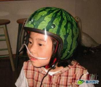 スイカヘルメット
