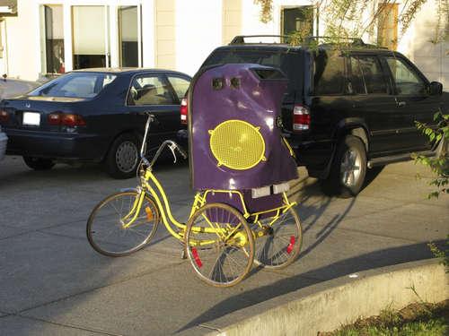 スピーカー自転車