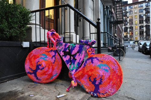 knitted bike