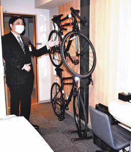 客室に自転車